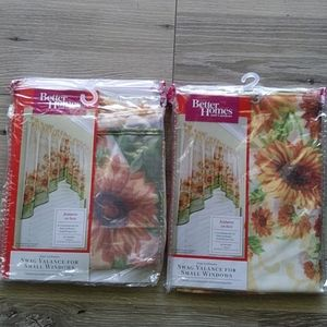 Better Homes and gardens swag valance NWT